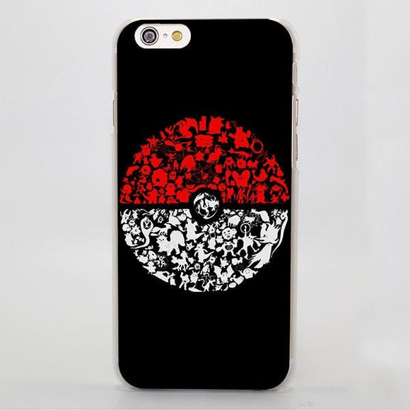 Pokemon All Animals Elf Ball Anime Cool iPhone Case