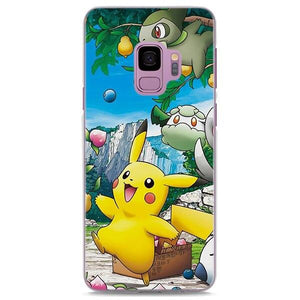 Pokemon Cute Pikachu Collecting Fruits Samsung Galaxy Note S Case