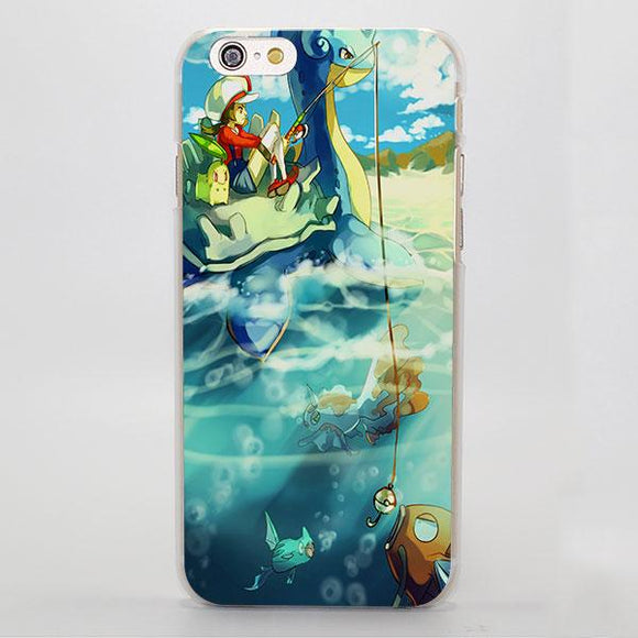 Pokemon Lapras Magikarp Goldeen Chikorita iPhone Case