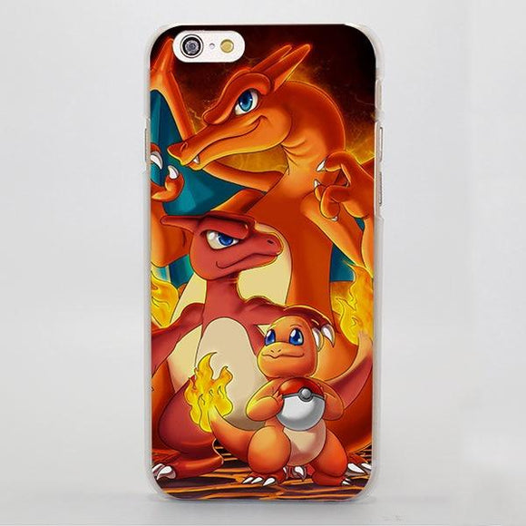 Pokemon Anime Charmander Charmeleon And Charizard iPhone Case