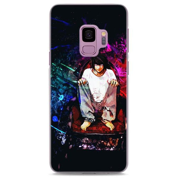 Death Note L Colorful Splatter Art Samsung Galaxy Note S Series Case