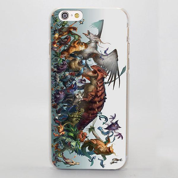 Pokemon Powerful Animals Monsters Painting iPhone Case