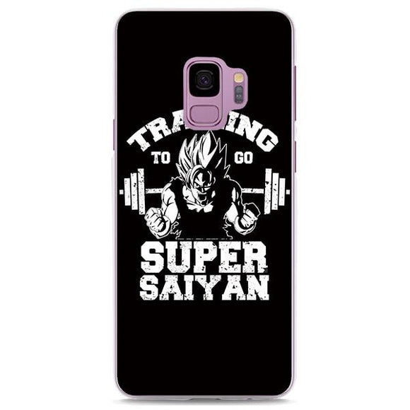 Goku Super Saiyan Gym Motivation Black Samsung Galaxy Note S Series Case
