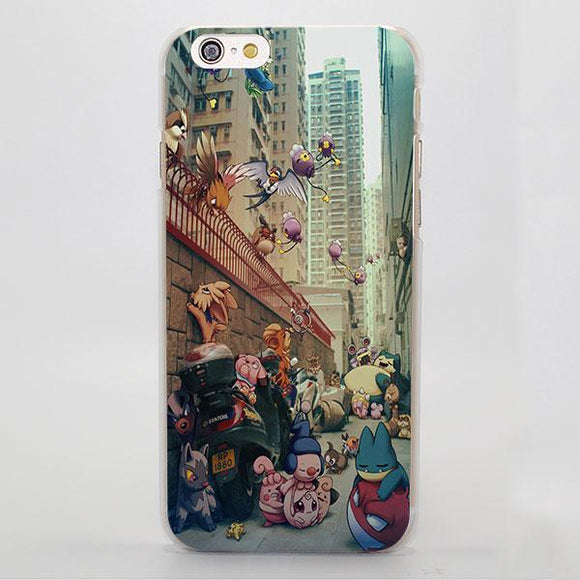Pokemon Cute Snorlax Animals In The City Adorbs iPhone Case