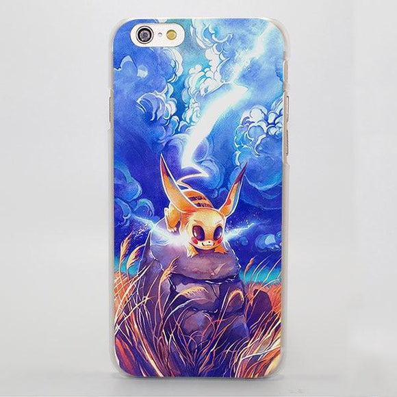 Pokemon Pikachu Thunder Lightning Elegant iPhone Case