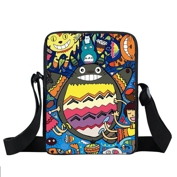 Totoro Colorful Unique Vibrant Fan Art Design Cross Body Bag