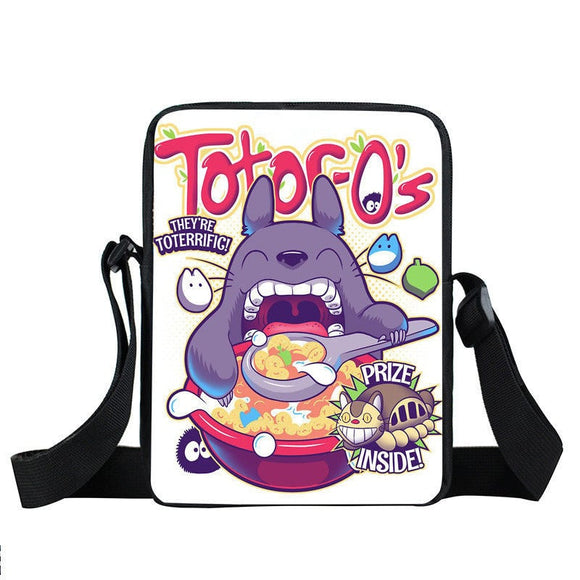 Adorable Totoro Eating Appetite Fan Art Cross Body Bag