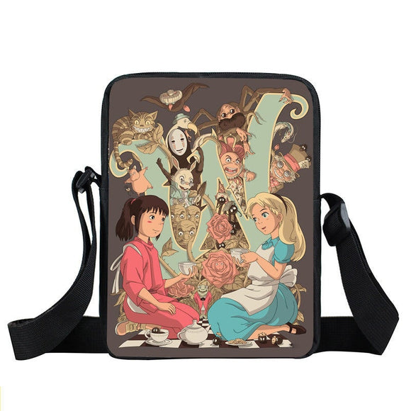 Spirited Away Alice In Wonderland Crossover Cross Body Bag