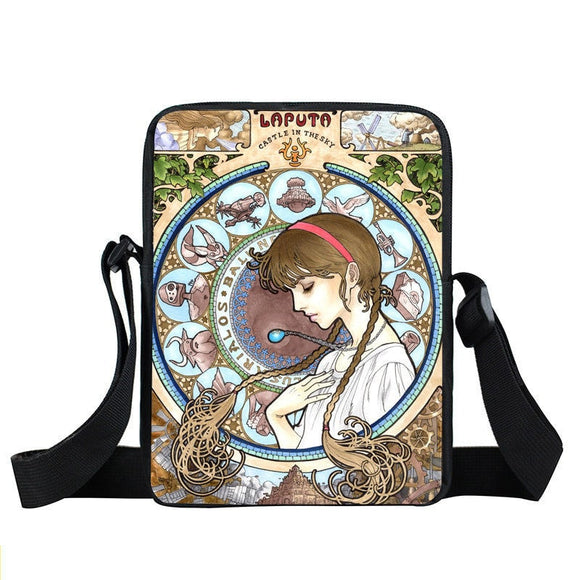 Laputa Castle In The Sky Sheeta Magic Crystal Cross Body Bag