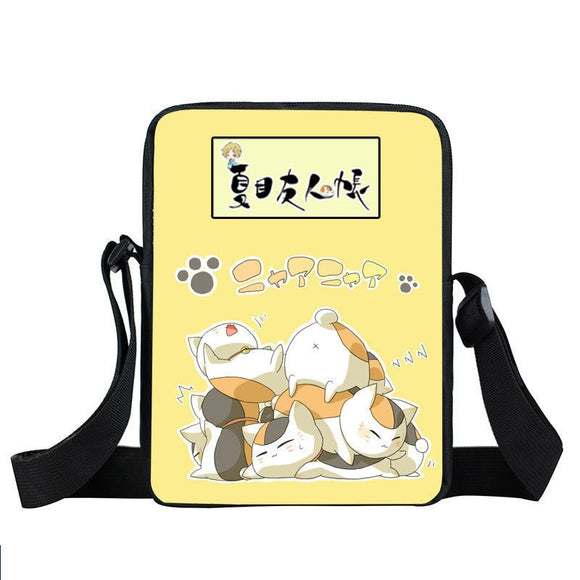 Stacked Sleeping Cute Madaras Yellow Cross Body Bag