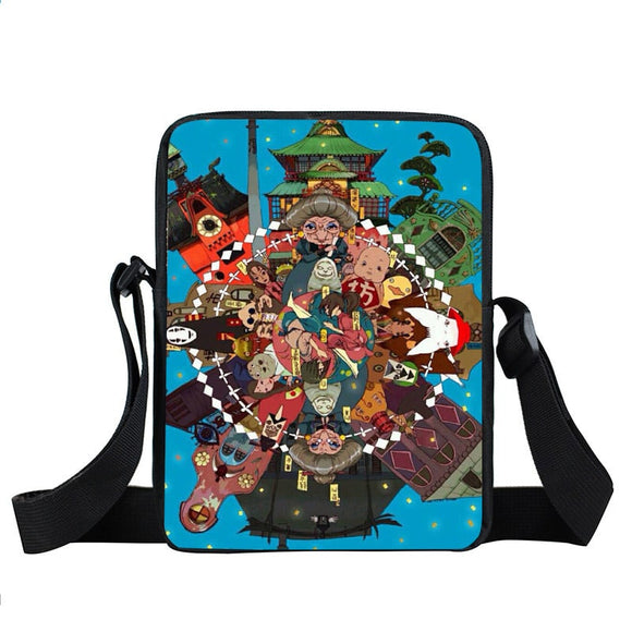 Spirited Away Vibrant Circle Of Character Cross Body Bag