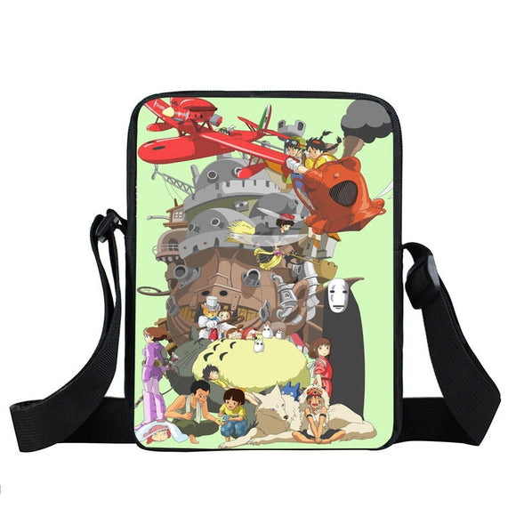 Ghibli Studio Hayao Miyazaki Anime Compilation Cross Body Bag