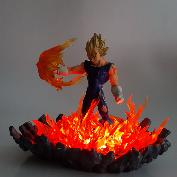 Vegeta Super Saiyan Big Bang Attack Orange Flame Aura DIY 3D Light Lamp