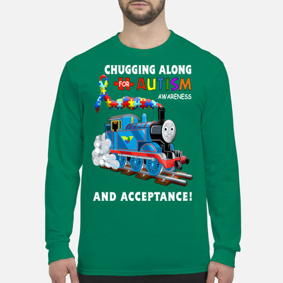 Thomas The Train Autism Awareness T-shirts - Men's Long Sleeved T-Shirt