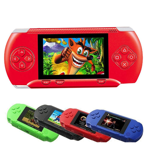 16 Bit PXP3 Handheld Game Player Video Gaming Console with AV Cable+2 Game Cards Classic Child Family Video PXP 3 Game Console