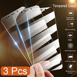 3Pcs Full Cover Tempered Glass For Xiaomi Redmi Note 7 6 5 Pro 5A 6 Screen Protector For Redmi 5 Plus 6A Protective Glass Film