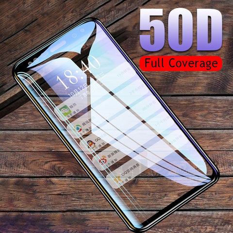 Image of 50D Full Curved Tempered Glass For Samsung Galaxy S9 S8 Plus Note 9 8 Screen Protector For Samsung S7 S6 Edge S9 Protective Film