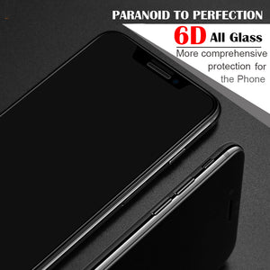 6D protective glass for iPhone 6 6S 7 8 plus X glass on iphone 7 6 8 X R XS MAX screen protector iPhone 7 6 screen protection XR