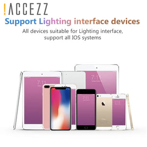!ACCEZZ For iPhone Adapter 2 in 1 For Apple iPhone XS MAX XR X 7 8 Plus IOS 12 3.5mm Jack Earphone Adapter Aux Cable Splitter