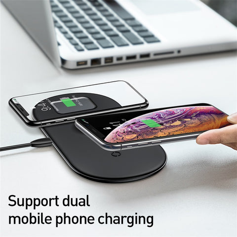 Image of Baseus Wireless Charger For iPhone X XS MAX XR 8 Fast Wireless Full load 3 in 1 Charging Pad for Airpods 2019 Apple Watch 4 3 2