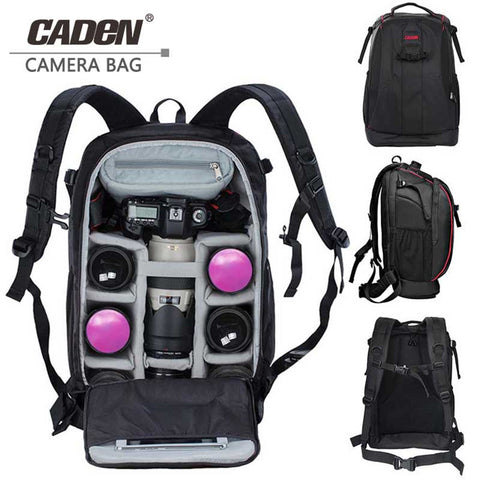 CADeN Photography bag mochila fotografia DSLR Camera Shoulder Bags backpack laptop for Canon Nikon Travel Shockproof lens Cases