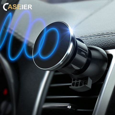 Image of CASEIER Ultra Magnetic Car Phone Holder Air Vent Mount Magnet Car Holder For Your Mobile Phone Stand Suporte Celular Ppara Carro