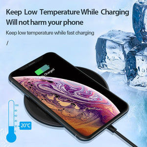 15W Qi Wireless Charger for Samsung S9 S10 iPhone X XS MAX XR 8 Plus