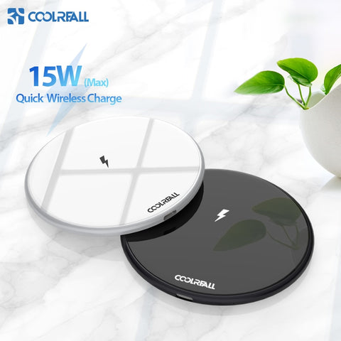 Image of 15W Qi Wireless Charger for Samsung S9 S10 iPhone X XS MAX XR 8 Plus