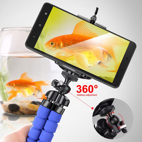Image of Crouch Phone holder Tripods tripod for phone Mobile camera holder Flexible Octopus Bracket For iPhone Xiaomi Samsung Clip Holder
