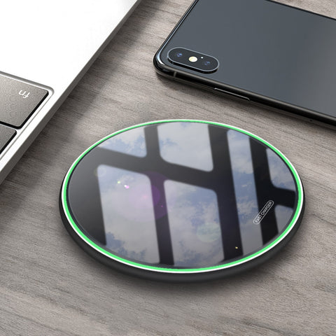 Image of DCAE 10W Wireless Charger Pad Qi Quick Charge USB Fast Charging For iPhone X XR XS 8 Plus Samsung S10 S9 S8 Note 9 8 Xiaom Mi 9