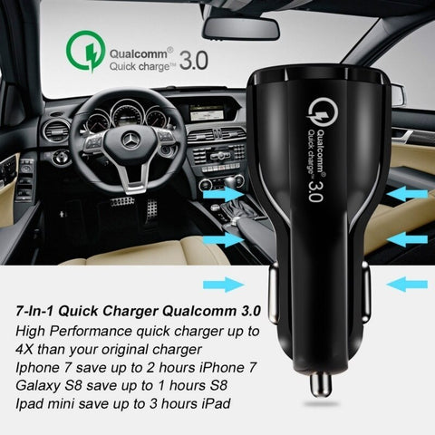 Dual USB 3A Fast Charger for Phone Car Charger for Mobile Phone Tablet GPS Car Charger for IPhone X XR 8  Phone Charger Adapter