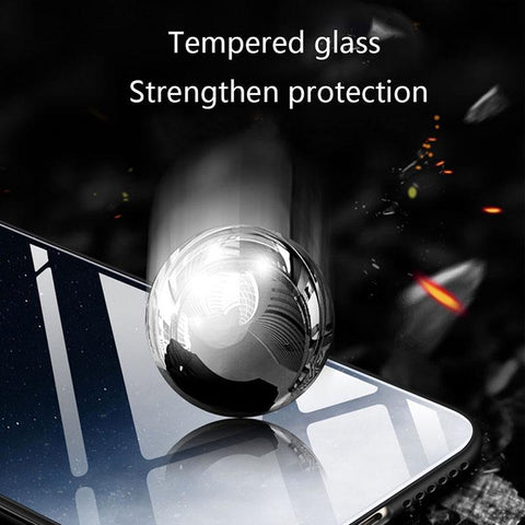Image of GFAITH Tempered Glass Case For Samsung Galaxy A50 Feather Print Cover For Samsung Galaxy A30 A20 A10 A40 S9 A70 Phone Cases S10