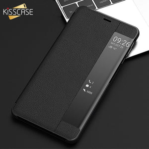 KISSCASE Case For Samsung Galaxy S7 Edge S8 S9 S10 Luxury Leather Smart View Window Flip Phone Case for Samsung Note 8 9 Fundas