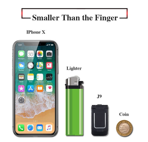 "Mini Flip Mobile Phone  J9 0.66"" Smallest Cell Phone Wireless Bluetooth Dialer FM Magic Voice Handsfree Earphone For Kids"