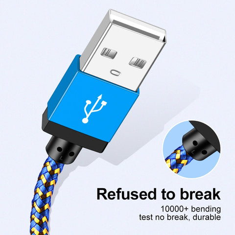 Image of OLAF Micro USB Cable 1m 2m 3m Fast Charging Nylon USB Sync Data Mobile Phone Android Adapter Charger Cable for Samsung Cable