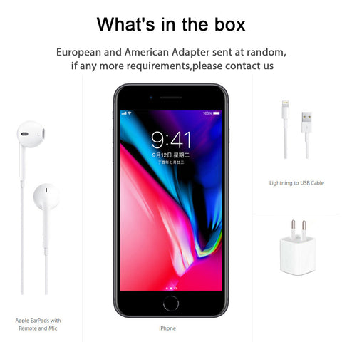 Original Unlocked Apple iphone 8 Plus 4G LTE 5.5 inch Hexa Core 3GB RAM 64G/256G ROM Cellphone 12MP iOS Fingerprint Mobile Phone