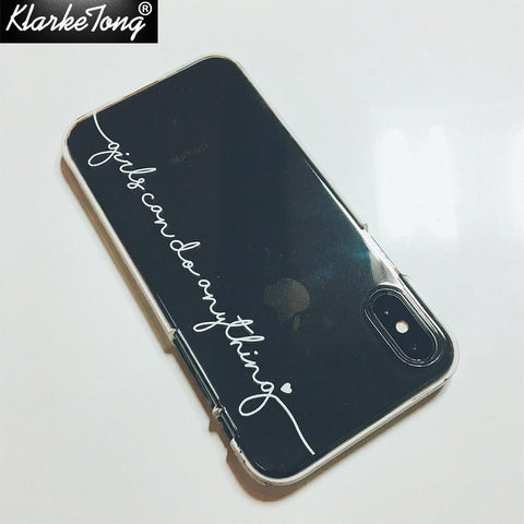 Image of Personalized Custom Name Phone Case For iPhone 5 5S 6 6S 7 8Plus Xs MAX XR Soft Clear TPU Cover Capa Fundas