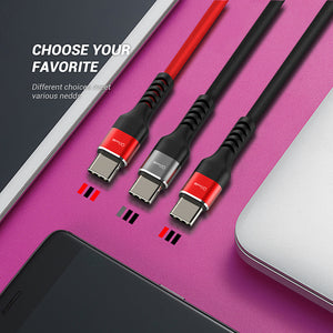 QGEEM USB Type C Cable USB C Mobile Phone Fast Charging USB Charger Cable for Samsung Galaxy S9 Huawei Mate 20 Xiaomi USB Type C