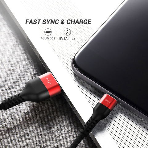 Image of QGEEM USB Type C Cable USB C Mobile Phone Fast Charging USB Charger Cable for Samsung Galaxy S9 Huawei Mate 20 Xiaomi USB Type C