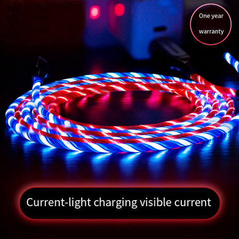 Image of Robotsky 3A LED Light USB Type C usb c Fast Charging Data Cable Charger USB Cable For XiaoMi Huawei Samsung S9 S8 Smart Phone