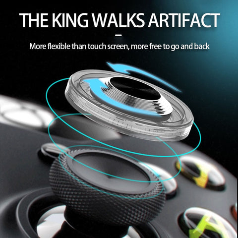 Image of Round Game Joystick For Mobile Phone Rocker Tablet Android Iphone Metal Button Controller Easy Chicken Dinner With Suction Cup