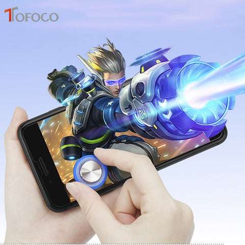 Image of Round Game Joystick Mobile Phone Rocker For Iphone Android Tablet Metal Button Controller For PUBG Controller With Suction Cup