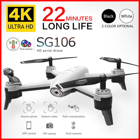 SG106 Wifi RC  Drone with 720P 1080P 4K HD Dual Camera  Quadcopter FPV Drone Long Battery Life Toys For Boy Kids