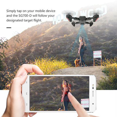 SG700 Upgraded Foldable RC Drones WIFI FPV 4K Dual Camera Drone Follow Mode APP Control Quadcopter For Gift Toy Dron Drone 4K