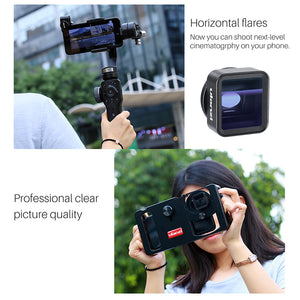 Ulanzi Anamorphic Lens For Mobile Phone 1.33X Wide Screen Video Widescreen Slr Movie Mobile Phone Lens Videomaker Filmmaker