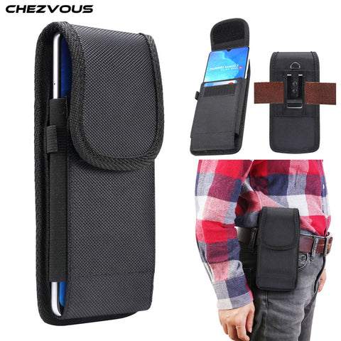 Image of Universal Pouch Belt Clip Holster Case 4.7 5.0 5.2 5.5 6.0 6.3 6.4 6.5 6.9 inch Waist Bag Nylon Oxford cloth Durable Phone Cover