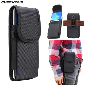 Universal Pouch Belt Clip Holster Case 4.7 5.0 5.2 5.5 6.0 6.3 6.4 6.5 6.9 inch Waist Bag Nylon Oxford cloth Durable Phone Cover