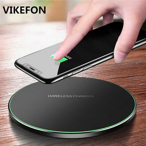 VIKEFON Qi Wireless Charger 10W QC 3.0 Phone Fast Charger for iPhone Samsung Xiaomi Huawei etc Wireless USB Charger Pad PK AUKEY
