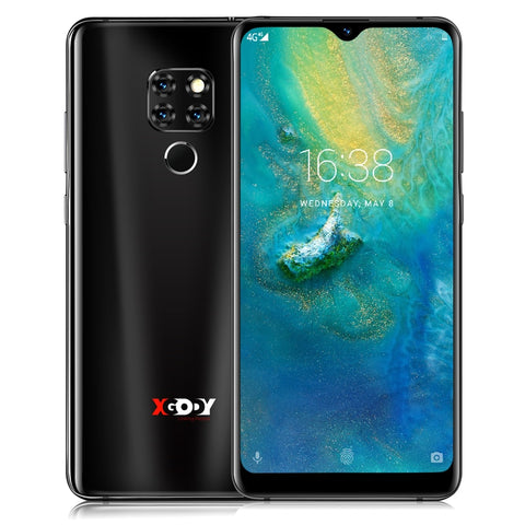 "Image of XGODY Mate 20 6.26"" 19:9 4G Smartphone Android 9.0 2GB RAM 16GB ROM MTK6737 Quad Core 13MP Fingerprint Full Screen Mobile Phone"