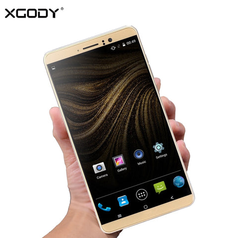 Image of XGODY Y14 6 inch 3G Smartphone MTK6580 Quad Core 1GB RAM 8GB ROM Android 5.1 Mobile Cell Phone Unlock Dual SIM 6.0 Inch WiFi GPS